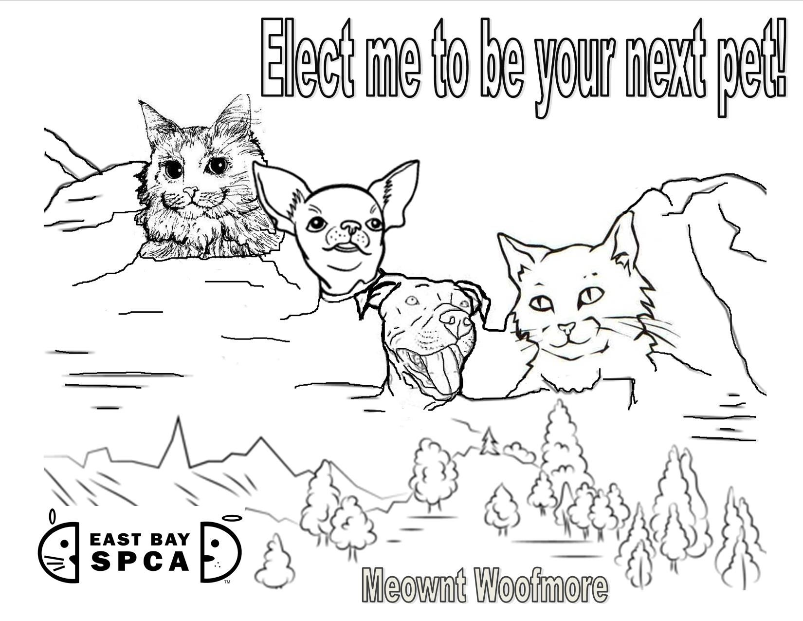 President S Day Shelter Pet Coloring Sheet From The East Bay Spca Humane Education Spca Pets