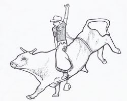 free printable rodeo coloring pages - Rodeo Coloring Pages
