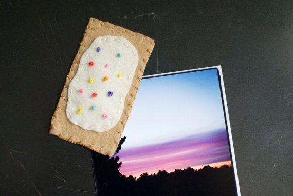 Super cute whimsical pop-tart magnet on Etsy, $5.00