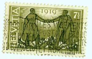 SWITZERLAND, SCOTT # 190 +192 (2) 1919 PEACE AFTER WORLD WAR 1 - Used -