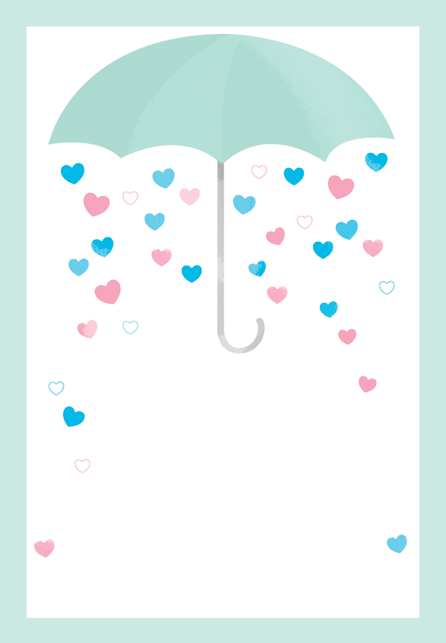 Shower With Love Free Printable Baby Invitation