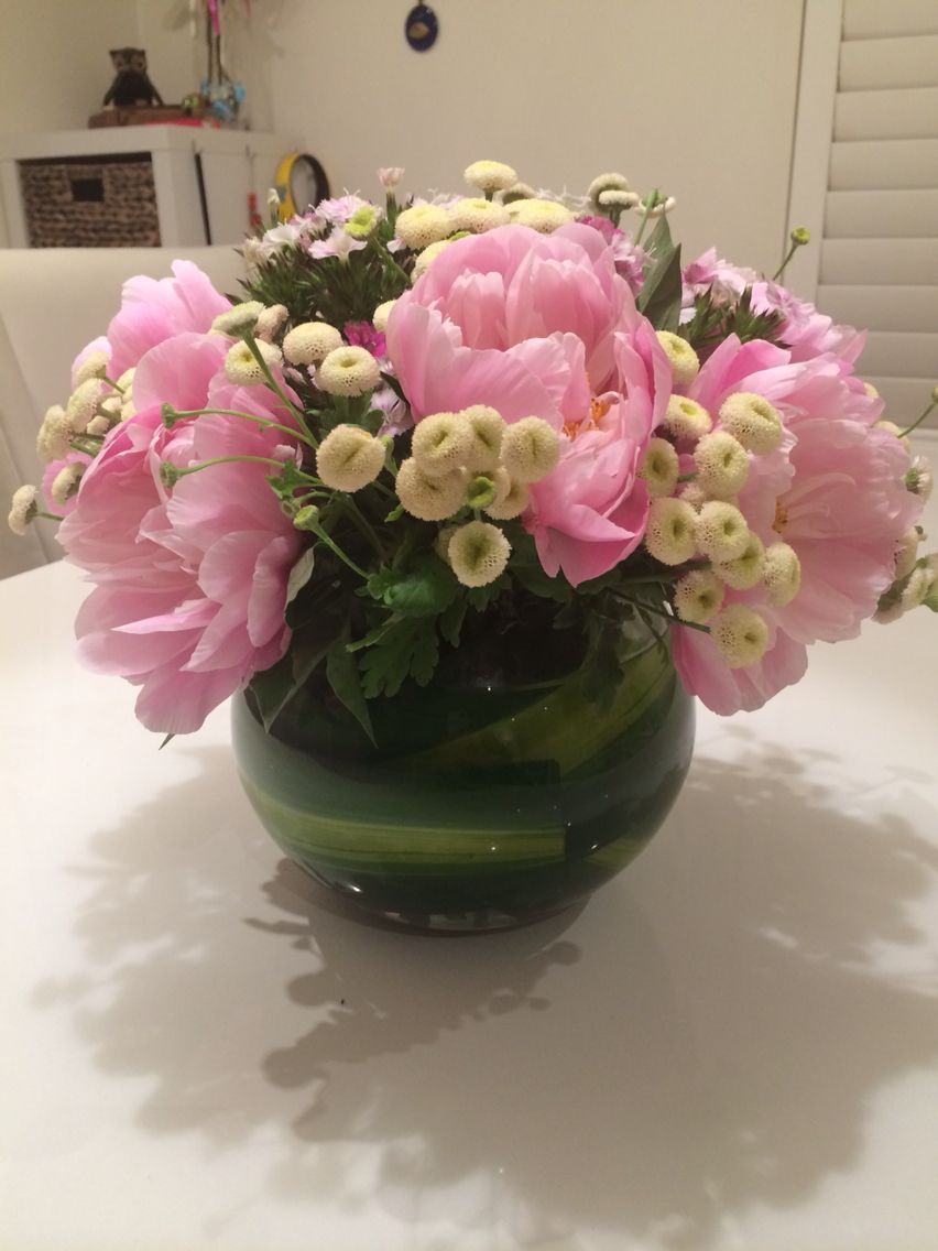 I Bought A Round Ball Vase For Flowers As A Centre Piece On The
