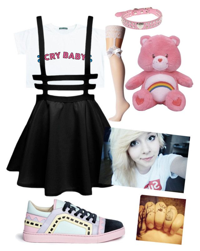 """""""Untitled #124"""" by pastle-bands-movies-emo on Polyvore featuring Sophia Webster and Betsey Johnson"""