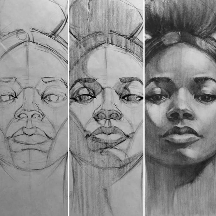 Image result for stages portrait sketches for beginners