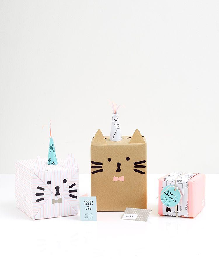 Add Some Fun with this Wrapping Idea Regalitos, Gato y Envoltura - envoltura de regalos originales
