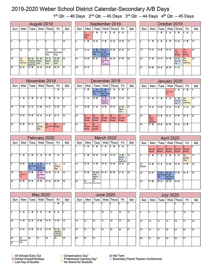 Cal Poly Academic Calendar 2022.Weber County School District Calendar School Calendar Academic Calendar Calendar Board