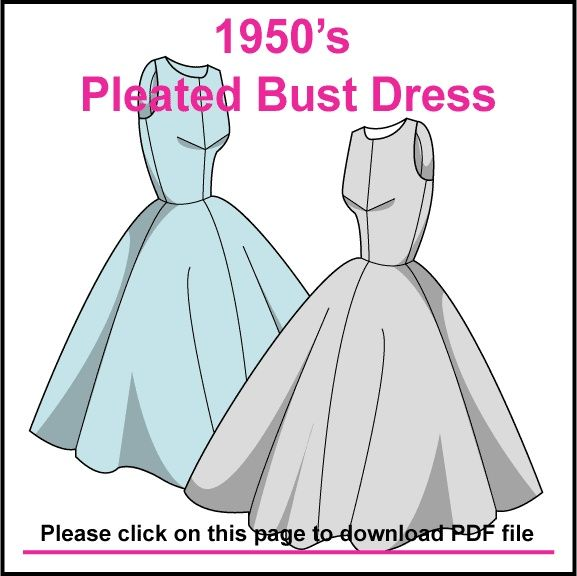 FREE 50s style dress pattern | DIY Crafts | Pinterest | Dress ...
