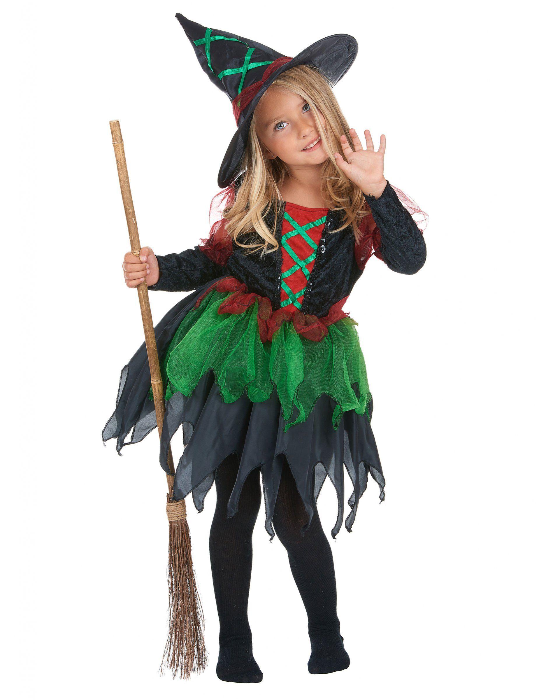 Disfraz de bruja del bosque para niña, ideal para