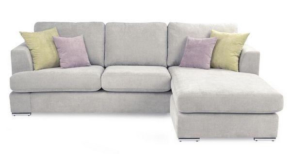 Freya 4 Seater Lounger Sitting Room Corner Sofa Silver Sofa Sofa