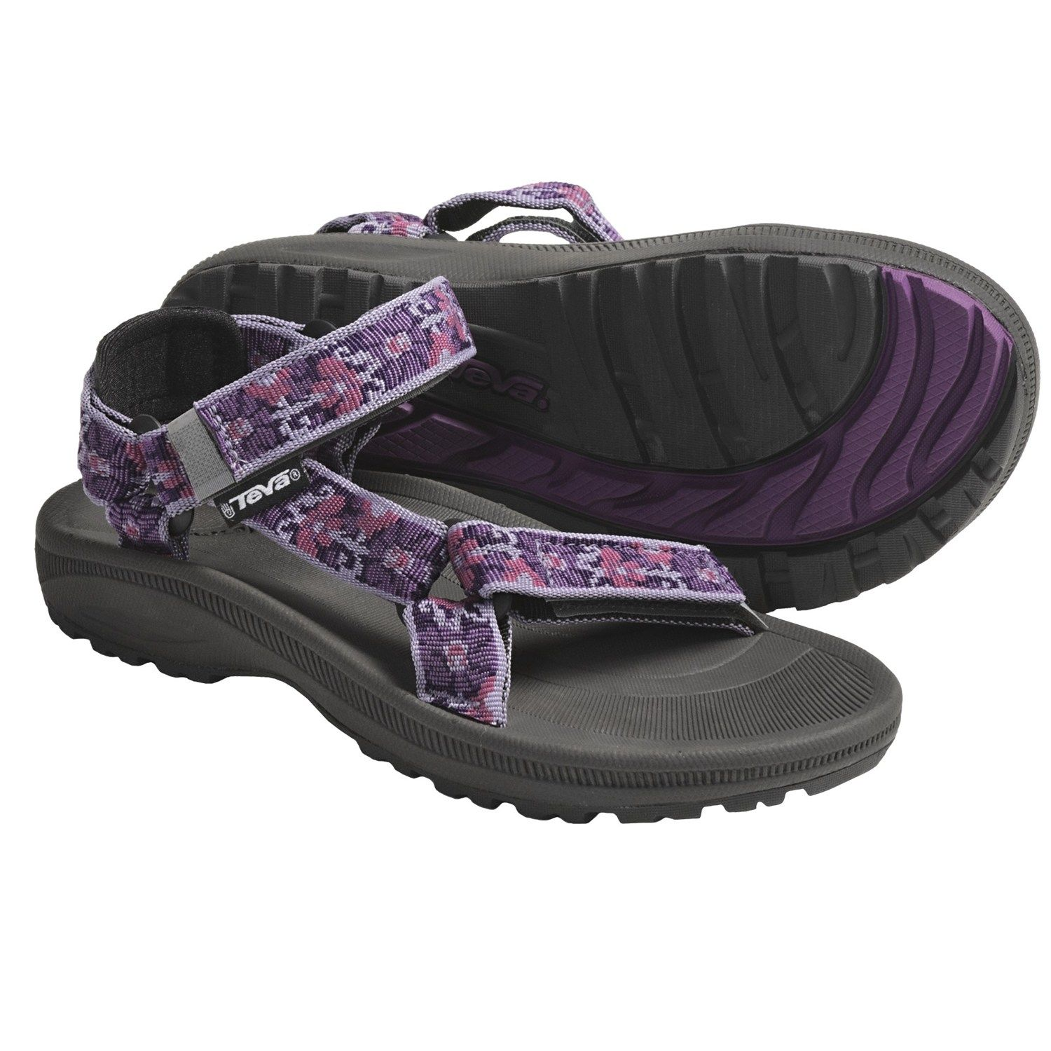 a901b801ec2dc Teva Hurricane 2 Sandals (For Kids and Youth) in Brocart Purple - Sz 6