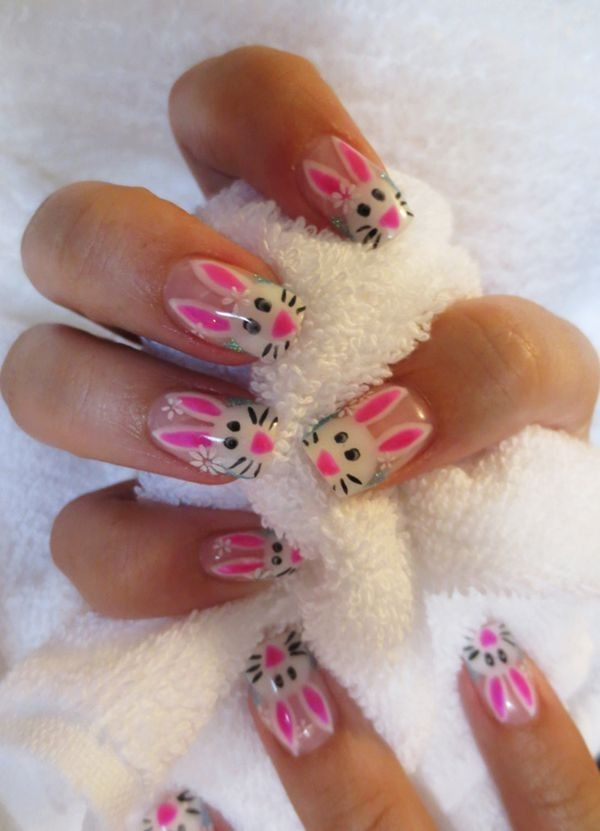 Zebra Print Nails Design,zebra-stripe nails for girls,Pink and Blue Zebra Print Nails Art for 2014 Fall/Winter - LoveItSoMuch.com