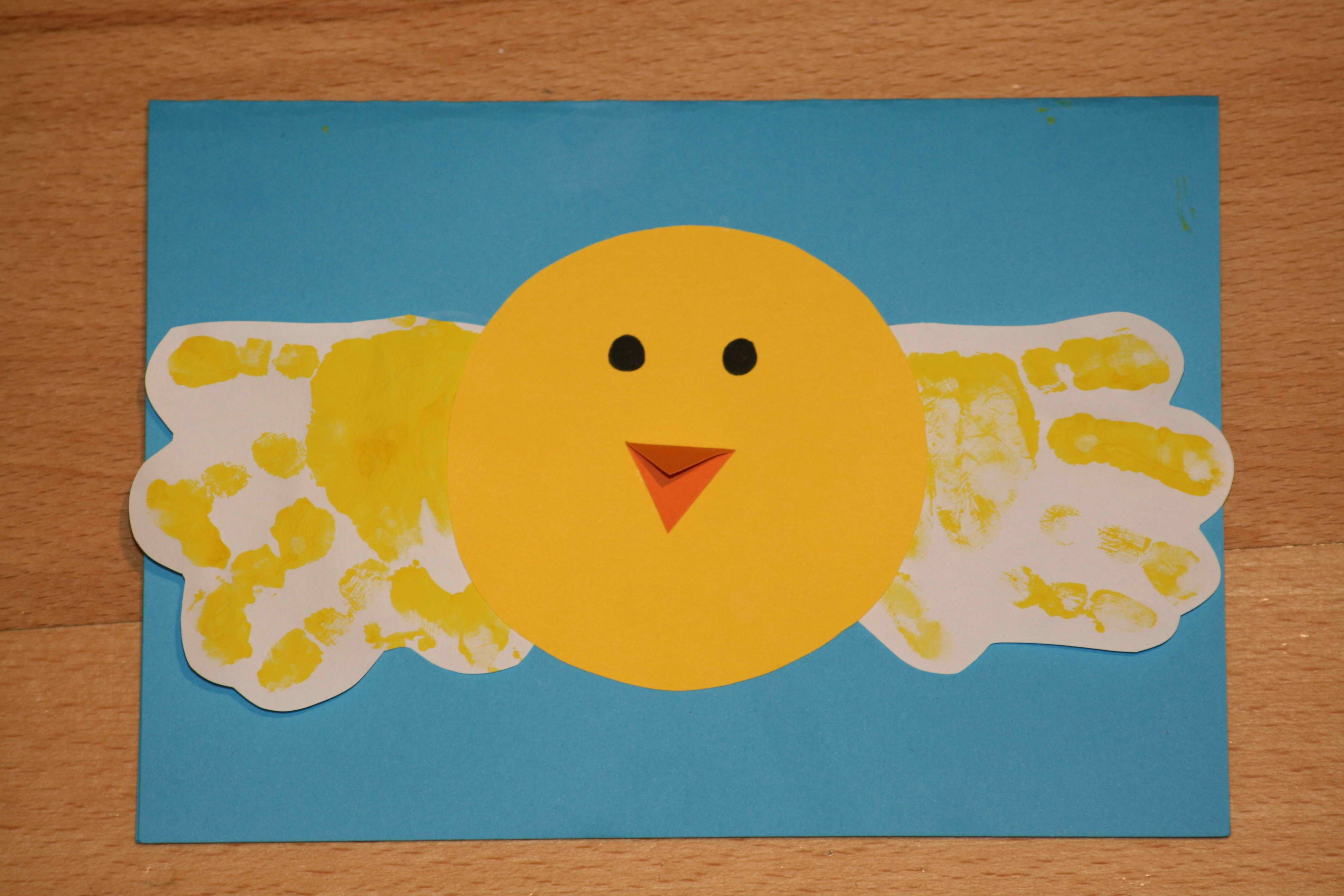 Chicks kids crafts hands painting toddler crafts