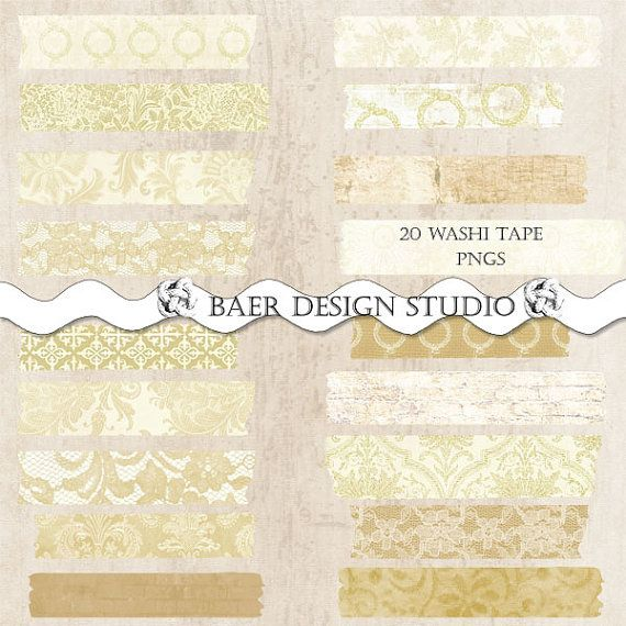 Digital Clip Art, Washi Tape Gold, use for: Clip Art Commercial Use, Planner Clipart, Clip Art Wedding, Clip Art Lace Washi Tape, #16201 #clipartfreebies