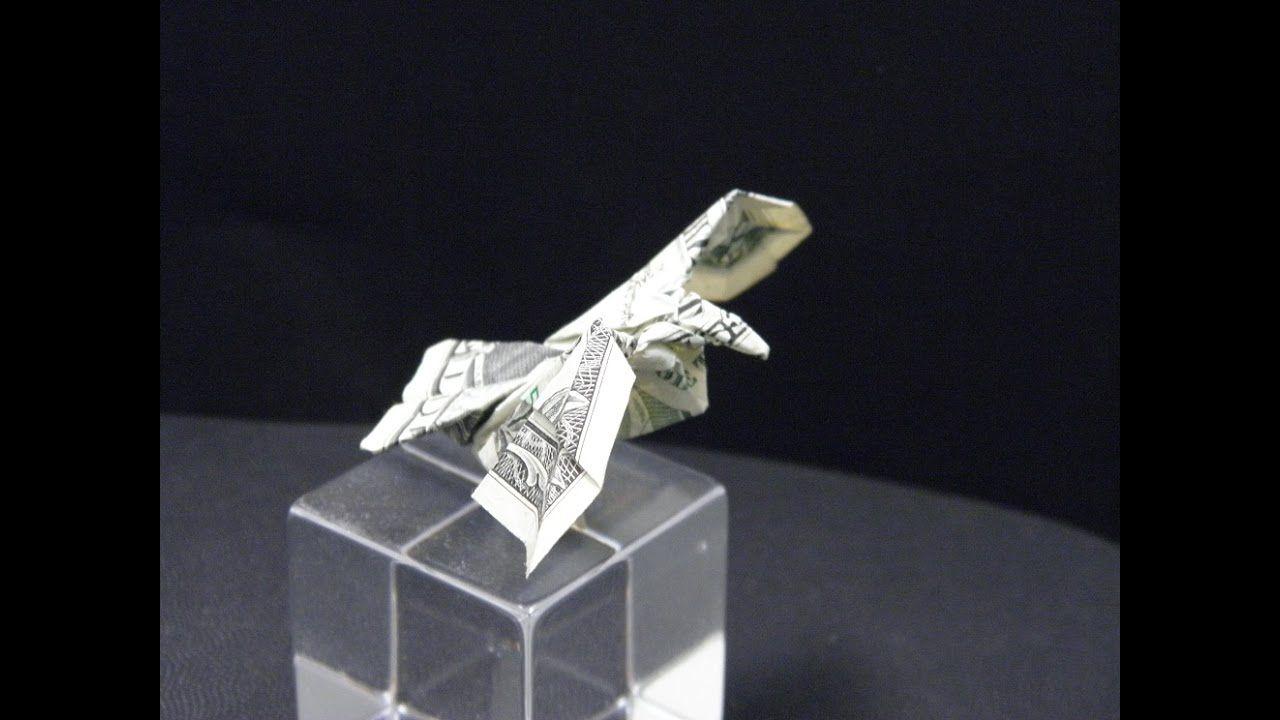 origami eagle instructions diagram kenworth t800 starter wiring flower illusion secret dollar bill instruction tutorial by