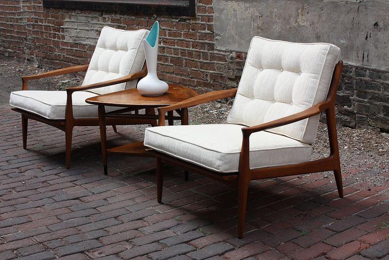 Remarkably Rare Milo Baughman Mid Century Modern Lounge Chairs (Thayer  Coggin, 1950u0027s) |