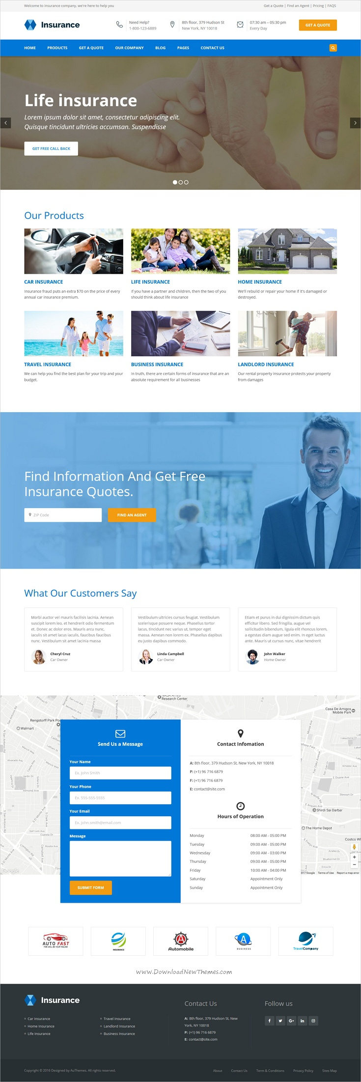 Bisune - Insurance Agency & Business HTML5 Template | Web ...