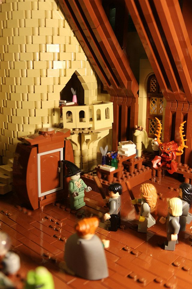 An Interior Classroom From Alice Finch S Hogwarts Lego Building
