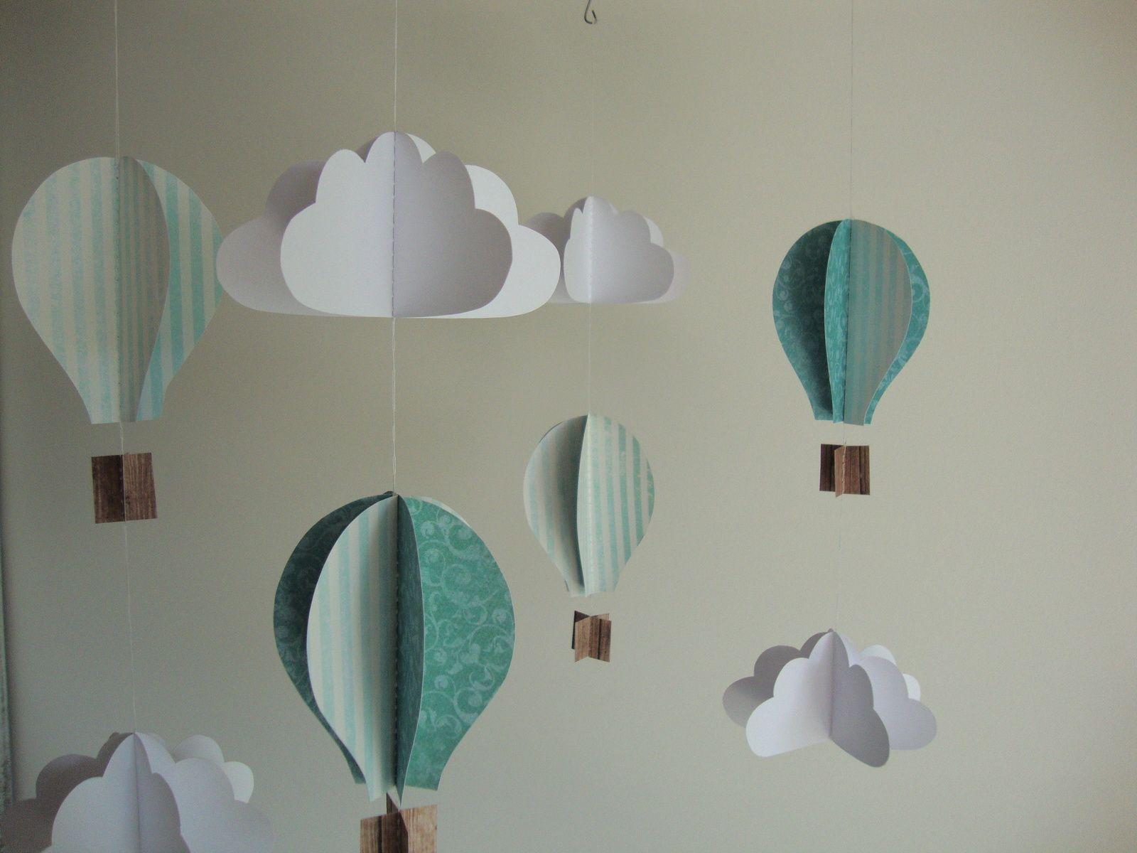 Mobile montgolfière et nuage   設計課室   DIY - photo#44