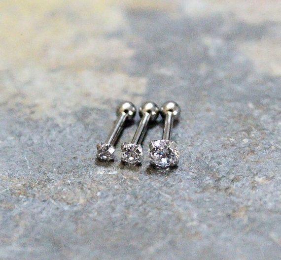 1//PAIRE 925 Set Perceuse Argent Sterling Rond strass cristal oreille Boucles D/'oreilles Clou