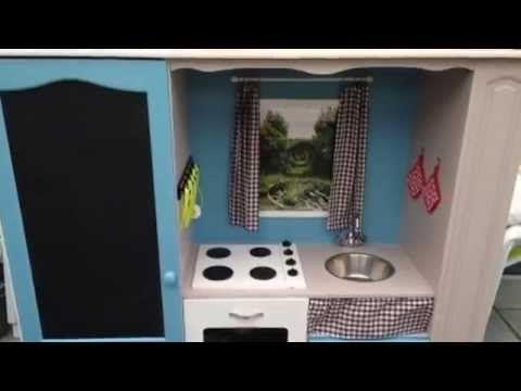 comment transformer un meuble tv en cuisini re pour enfants cabane pinterest meuble tv. Black Bedroom Furniture Sets. Home Design Ideas