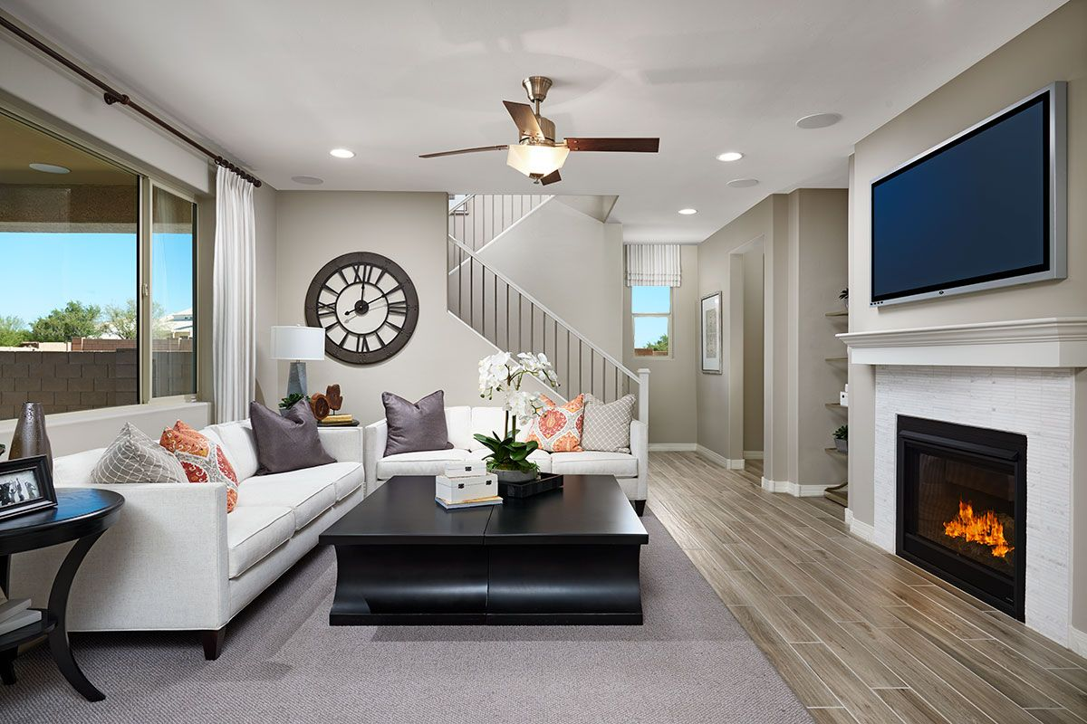 A great room designed for cozy movie nights! | Hopewell model home | Tucson,  Arizona | Richmond American Homes