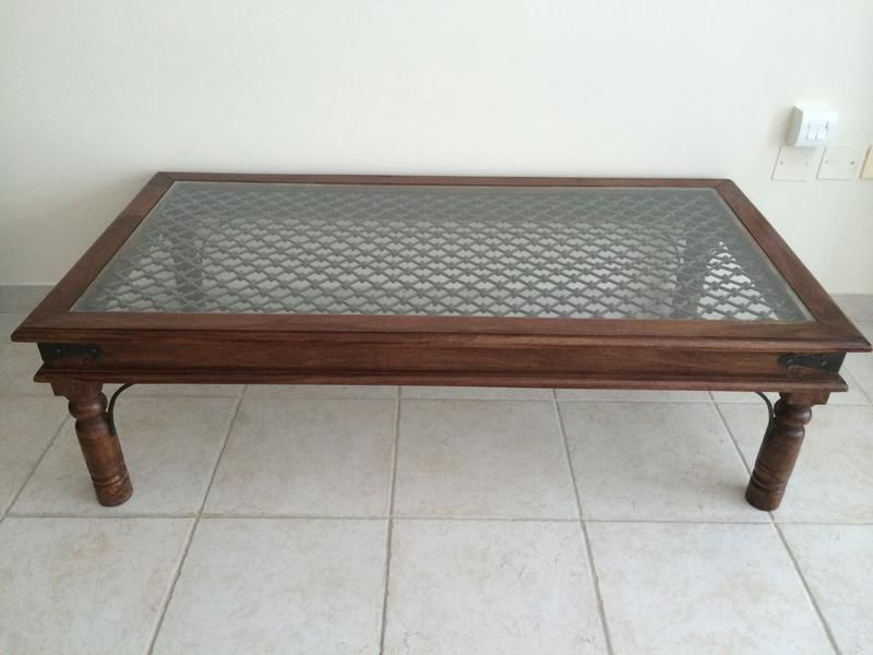 dubizzle dubai | tables: beautiful coffee table with glass top