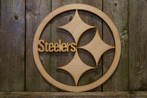 10d9e78da Pittsburgh Steelers logo wood cut wall hanging by ArrayOfDelight ...