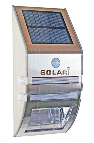Solari Solar Powered Led Outdoor Night Light And Motion Sensor Security Light For Wall Mounting Dual Function Stylis Security Lights Solar Power Motion Sensor