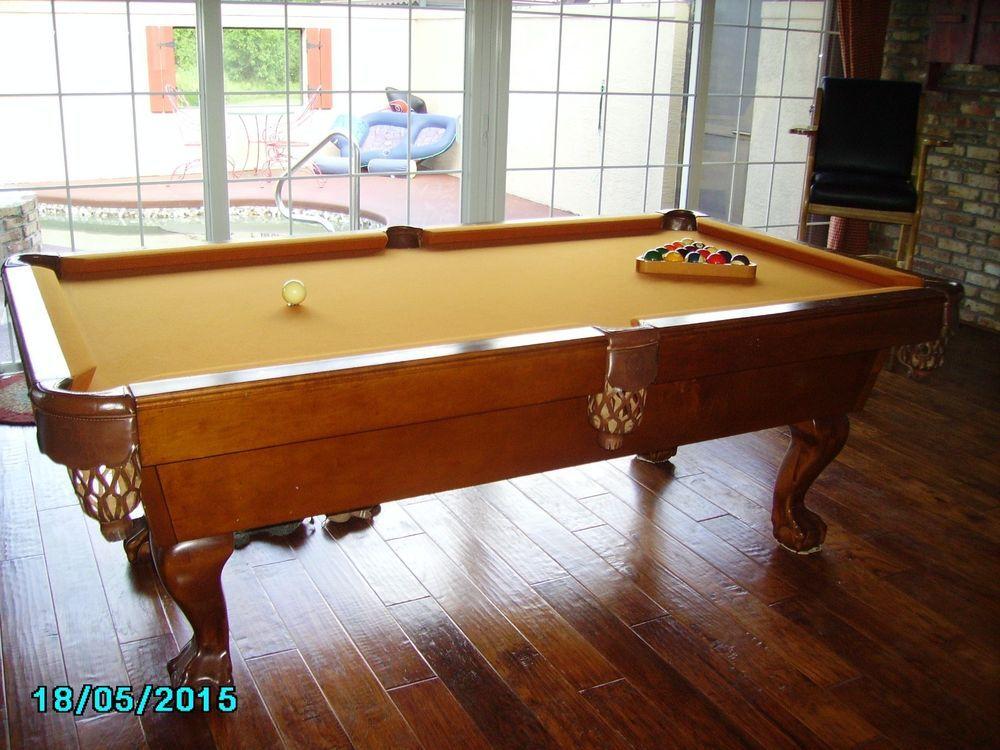 Attrayant CraftMaster Craft Master Since 1969 Pool Table Tan Camel Sticks Balls Slate  #Craftmaster