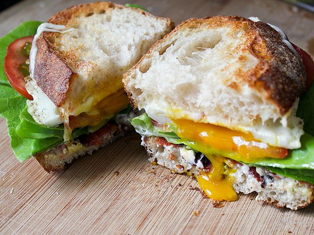 """Thomas Keller's """"Late Night BLT with Fried Egg and Cheese"""""""