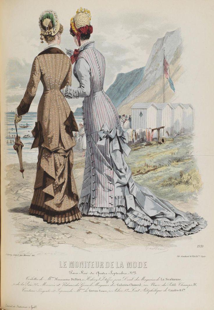 Le Moniteur de la Mode, promenade dresses, 1878