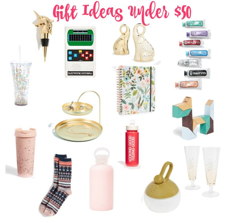 Gift ideas under $50.  #christmasgifts #giftguide #giftguide2017 #giftideas