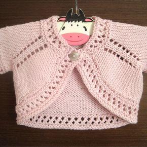 Photo of Harriet Bolero Knitting pattern by Suzie Sparkles