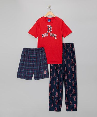 e189498c5 Take a look at this Red   Black Boston Red Sox Pajama Set - Kids by ...