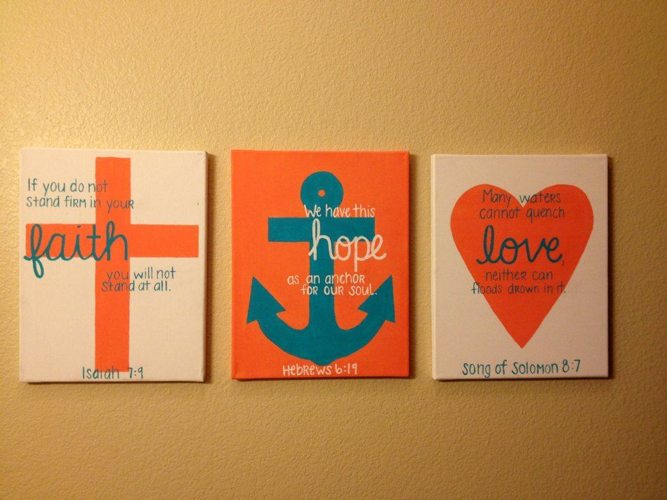 3 Canvas Painting Ideas Hilushan Com Crafts Anchor Painting Diy Canvas