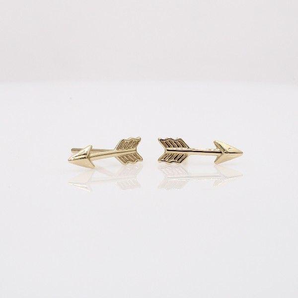 Blue Nile Arrow Stud Earrings in 14k Yellow Gold MlB1bfssLV