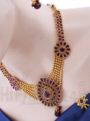 antique gajjala gold long gajjalu fashionworldhub for chains designs necklace tag marriage