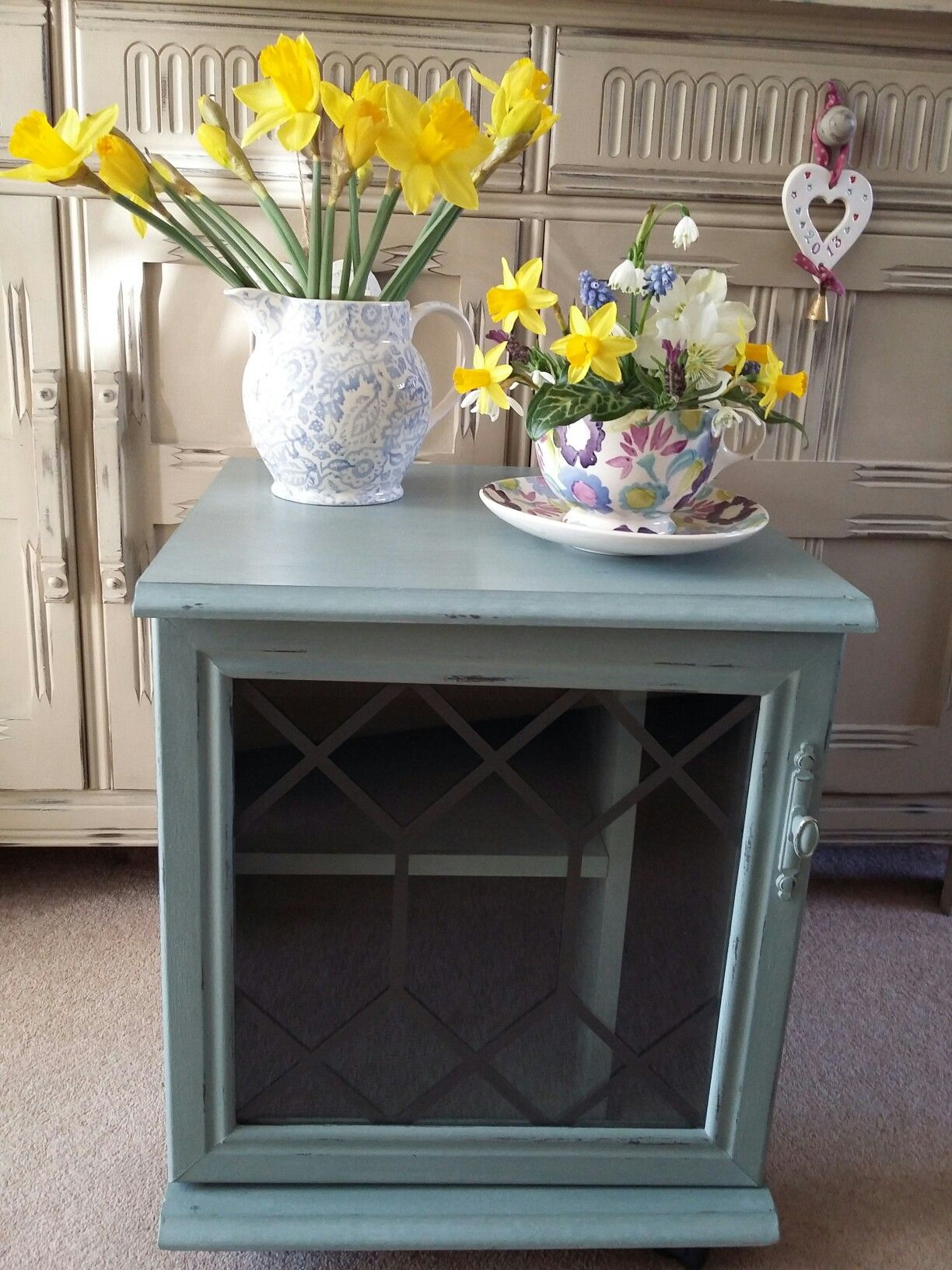 duck egg blue shabby. Vintage Unit Given A Makeover Using Annie Sloan Chalk Paint *Duck Egg Duck Blue Shabby E