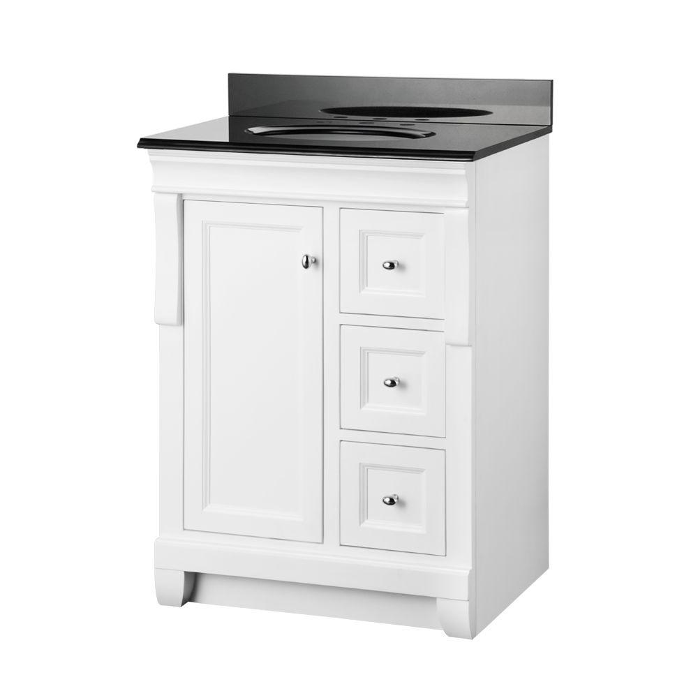 Foremost naples in  vanity white and granite top black also home decorators collection   bath rh pinterest
