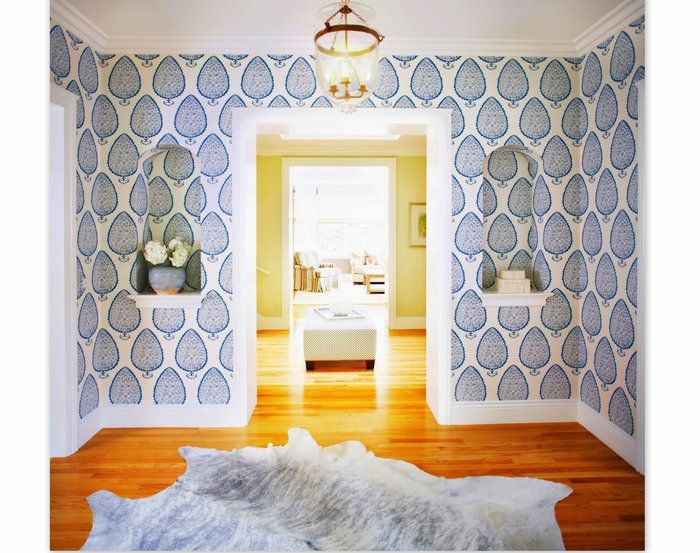 Katie Ridder Wallpaper With Images Leaf Wallpaper Beautiful Decor Paisley Wallpaper