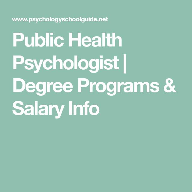 Public Health Psychologist | Degree Programs & Salary Info