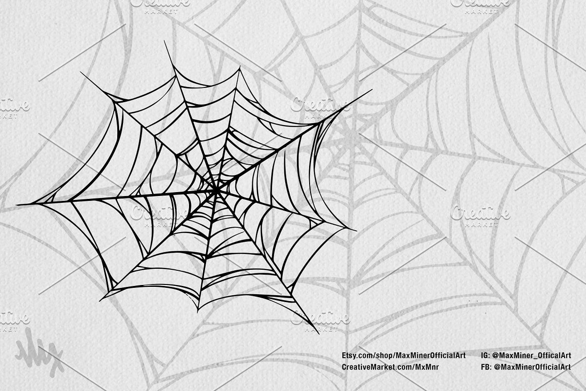 Halloween 2020 Art Pack Spooky Spiders Halloween Art Pack in 2020 | Spider web drawing