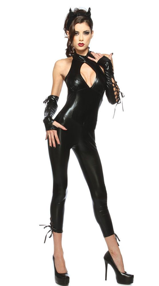 sexy cat woman pu leather outfit costume for halloweencosplay party black 330 - Cat Outfit For Halloween
