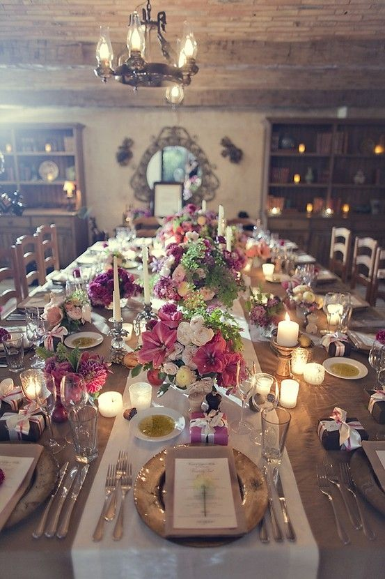 Rustic Chic Table Setting. I want this room, this table, these ...