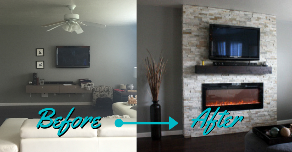 diy how to build a fireplace in one weekend a. Black Bedroom Furniture Sets. Home Design Ideas