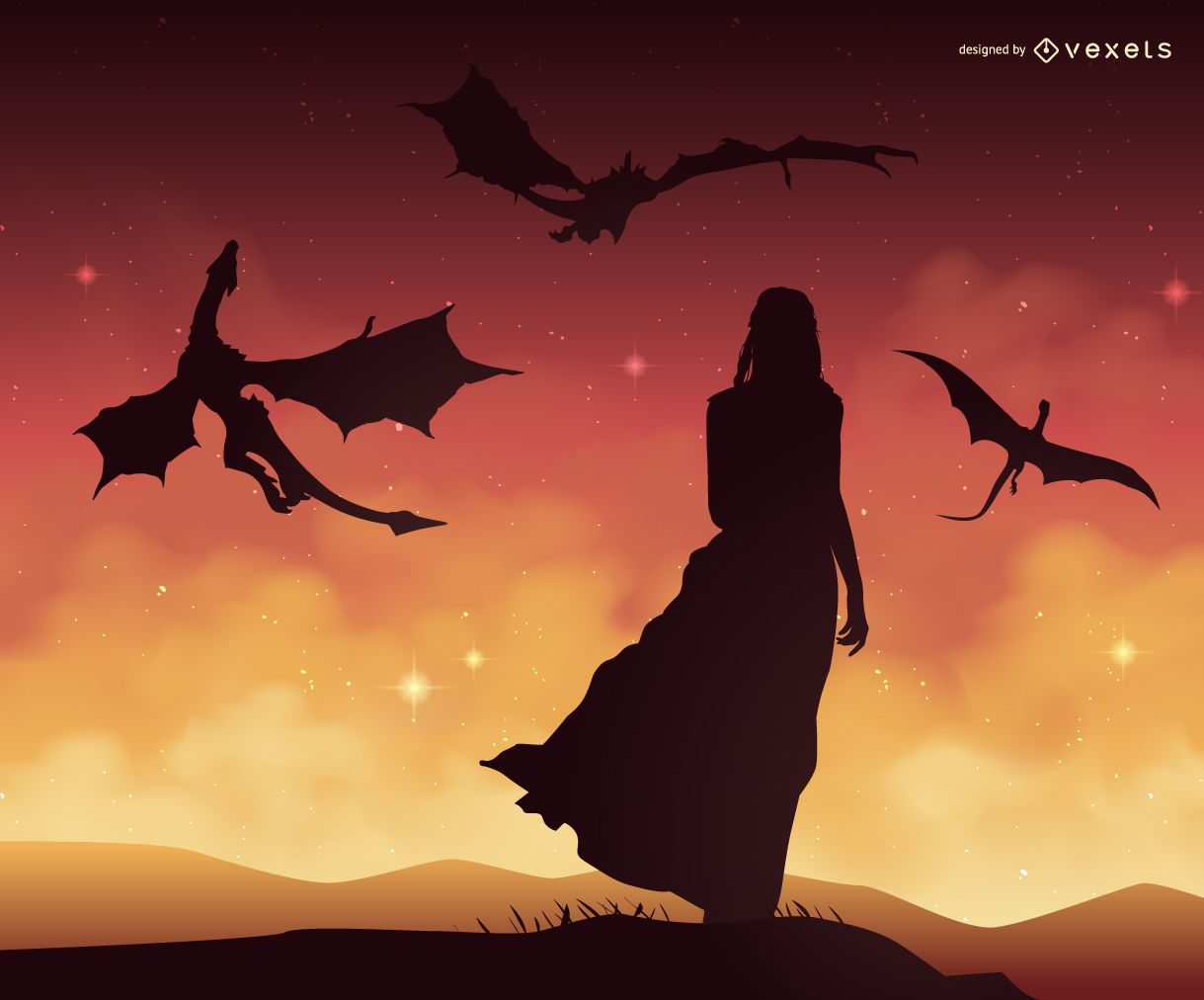 Image result for flying dragon silhouette | Dragons | Game ...