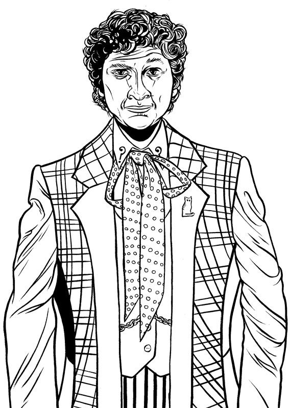 doctor who Coloring Pages Colin Baker actually showed up in an - new coloring pages for eye doctor