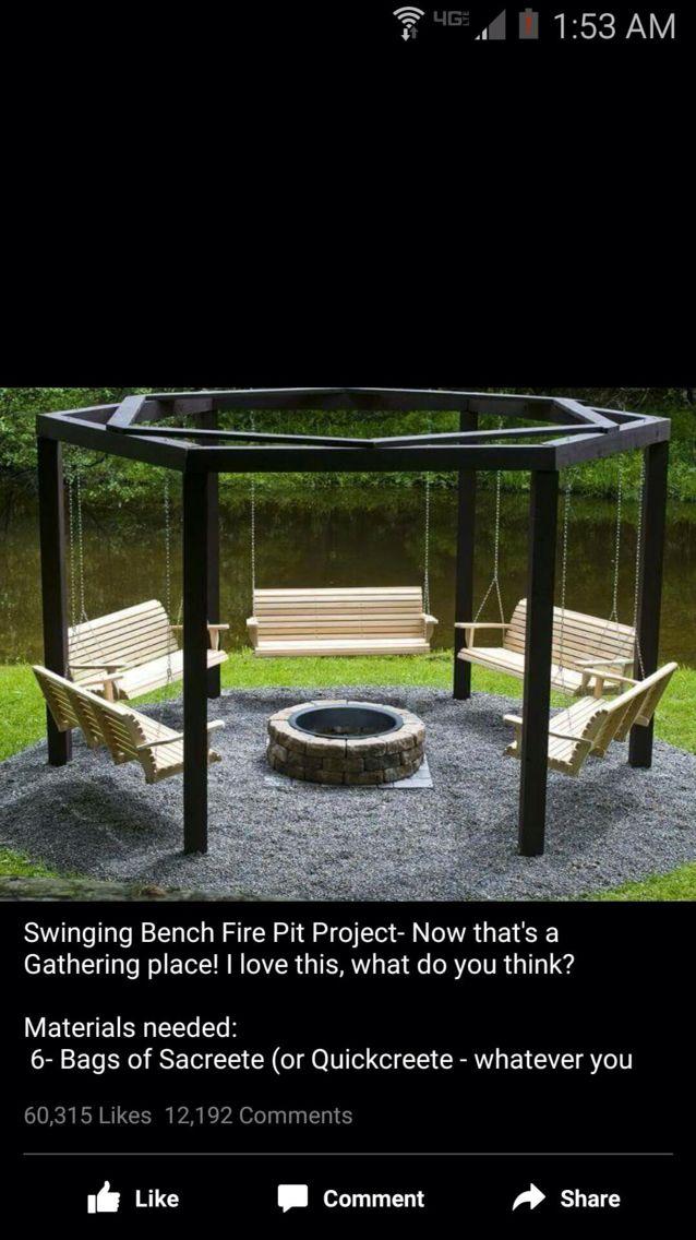 Swing fire pit