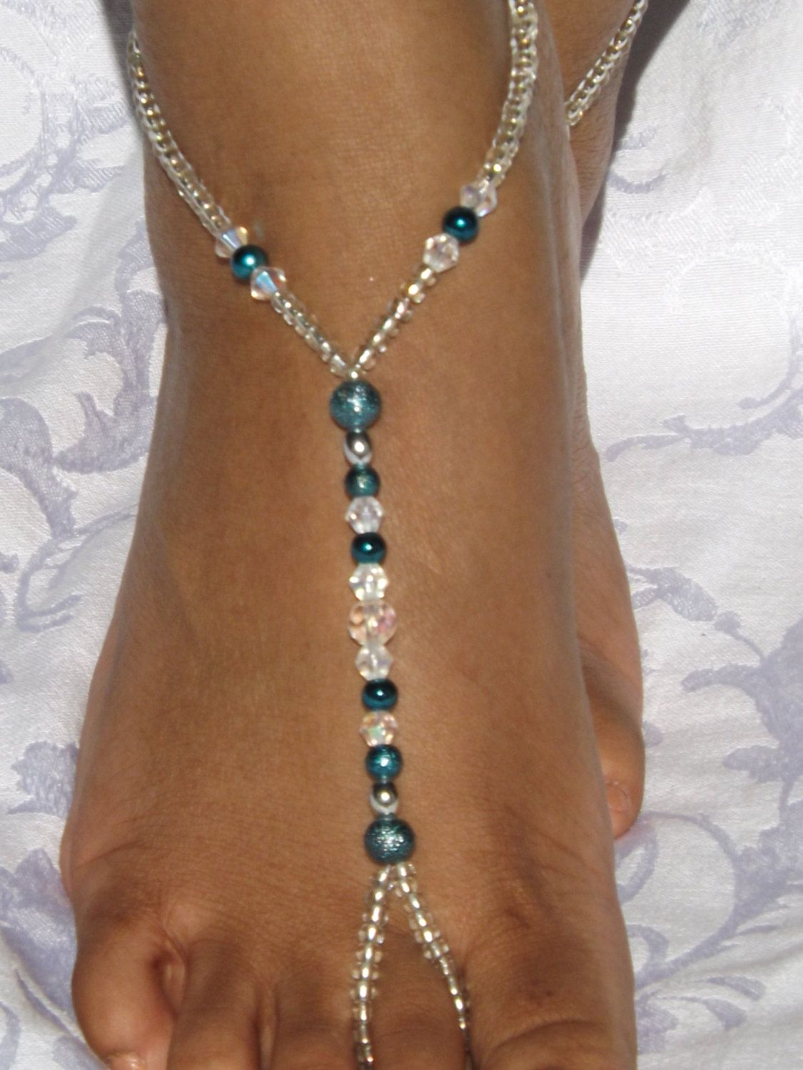 Barefoot Sandals Rhinestone Bridesmaids Gift Foot jewelry Anklet