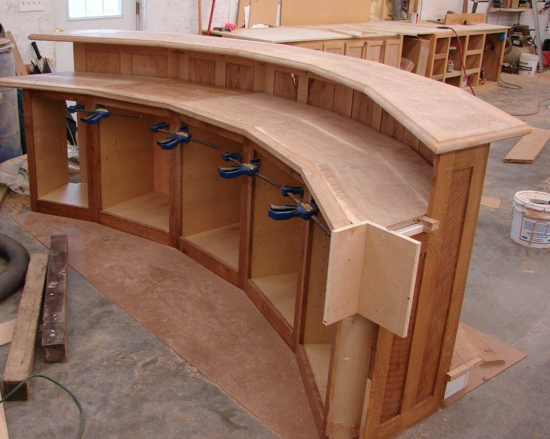 Follow Along In The Building Of A Rustic Curved Bar Diy Home